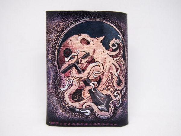 кошелек тройного сложения с осьминогом фото 5