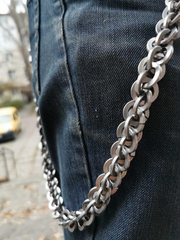 металлическая цепь для кошелька 2 фото