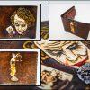 Кожаный компактный кошелек фемида и джокер фото 4