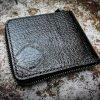 Кожаный кошелек на молнии с черепом фото 5