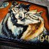 Кожаный кошелек пара волков фото 7